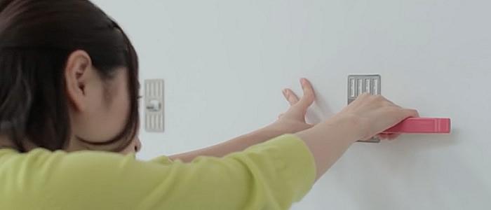 壁美人 かべびじん インテリア 絵画 鏡 吊る ミラー 金物 簡単