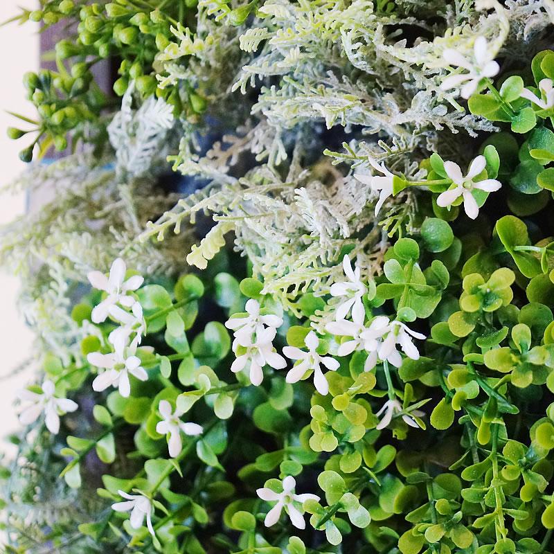 人工観葉植物 インテリアグリーン 光触媒 壁掛け 植物 フェイクグリーン フェイク グリーン インテリア 人工植物 高さ48cm 壁掛斑入りアイビー 消臭 抗菌 防汚