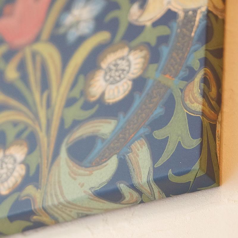 絵画 インテリア 壁掛け アートパネル ウィリアムモリス 壁紙 木製パネル おしゃれ壁紙 英国製 いちご泥棒 コールデンリリー ブラックトーン リビング ウォールデコ ブランド パネル フルーツ 壁面 装飾 飾り オリジナル